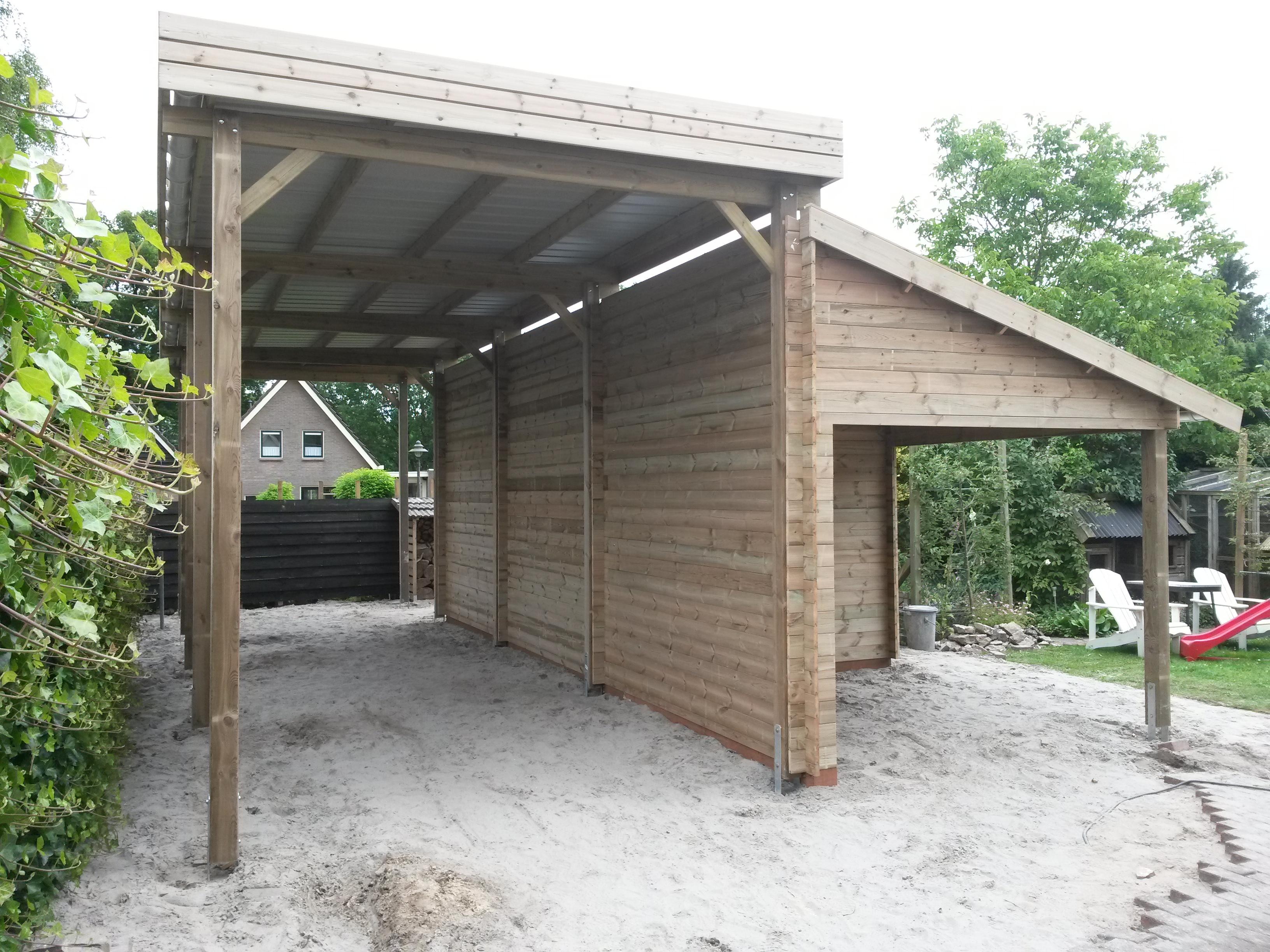 Gardival carport berging overkapping in havelte welles hout